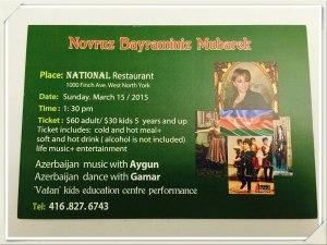 Novruz in Toronto