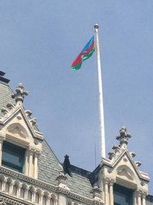 Azerbaijani Flag in CT
