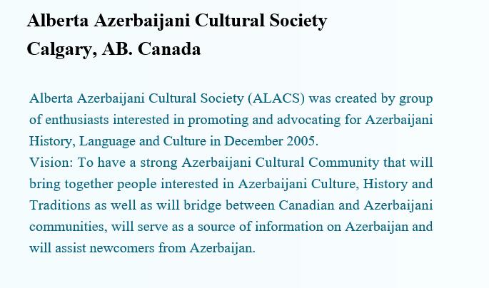 Alberta Azerbaijani Cultural SocietyCalgary