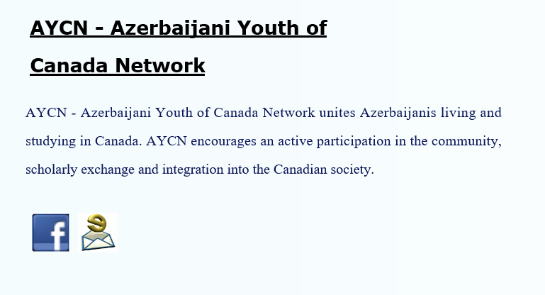 AYCN Azerbaijani Yout of Canada Network