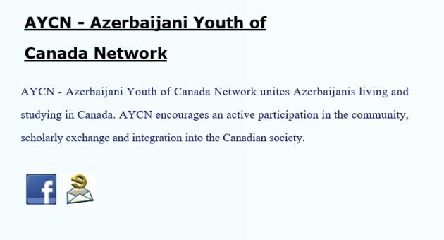 AYCN Azerbaijani Yout of Canada Network