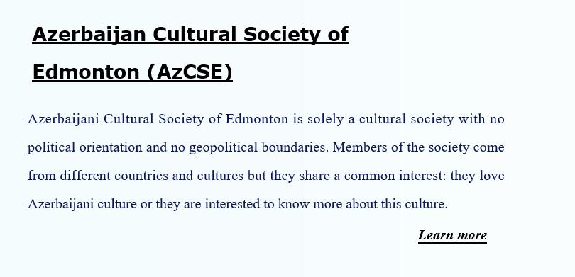 Azerbaijan Cultural Society ofEdmonton