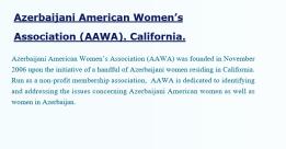 Azerbaijani American Womens Association