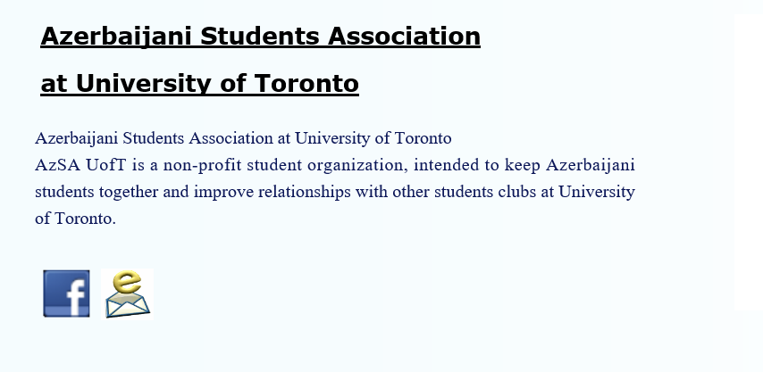 Azerbaijani Student Association University Toronto