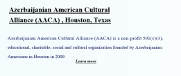 AzerbaijanianAmericanCulturalAllianceHouston