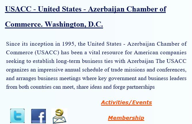 USACC United States Azerbaijan Chamber ofCommerce