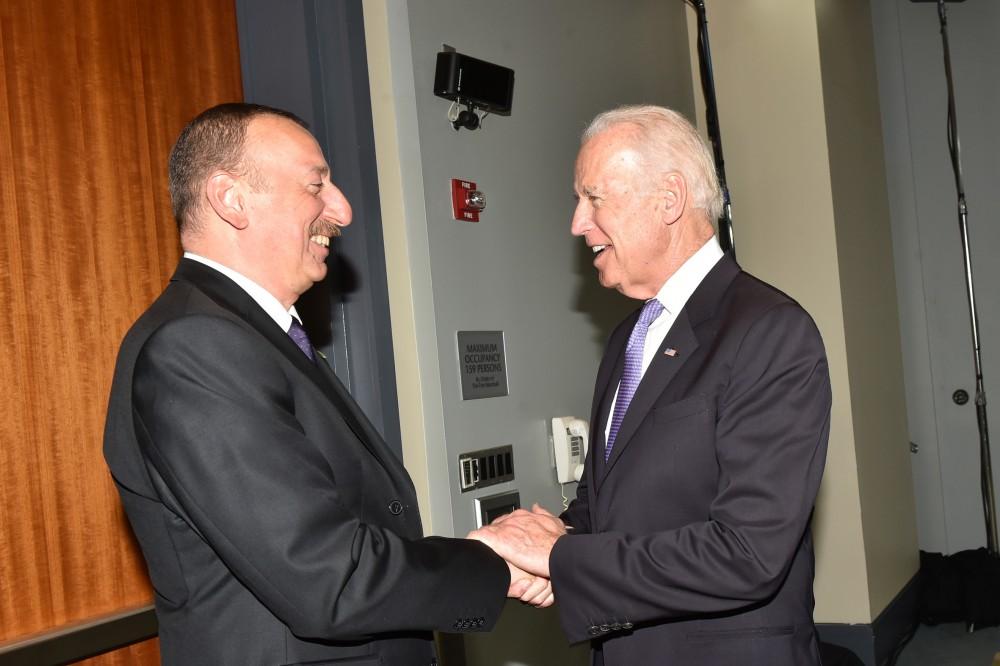 President of the Republic of Azerbaijan Ilham Aliyev has met with Vice President of the United States Joe Biden.