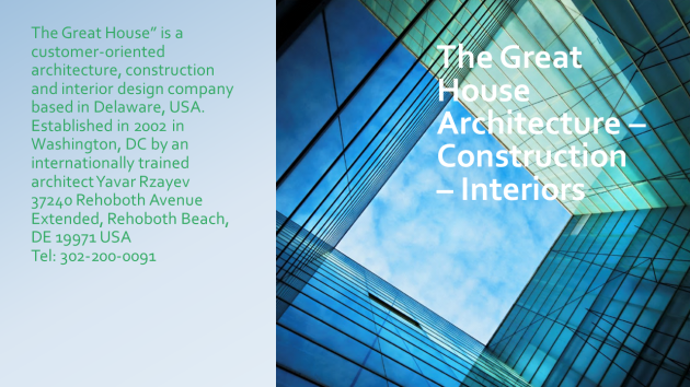 The Great House Architecture – Construction – Interiors