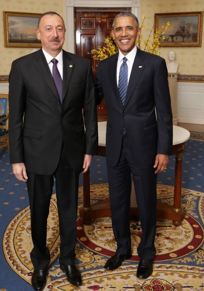 President Ilham Aliyev attended a dinner reception hosted by US President