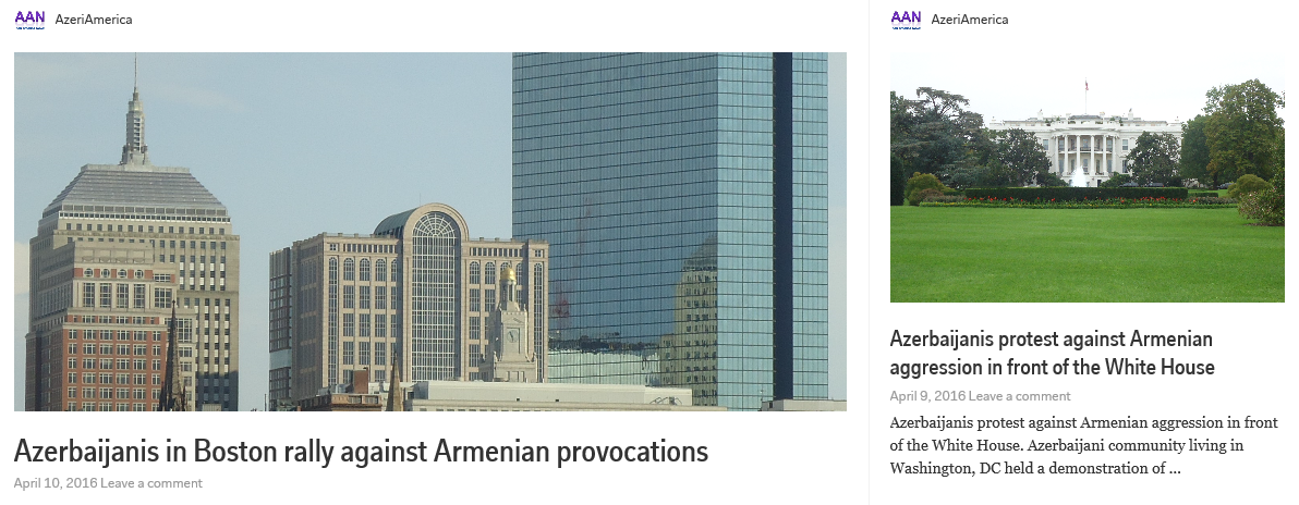 Azerbaijanis living in USA and Canada protest against Armenian military aggression