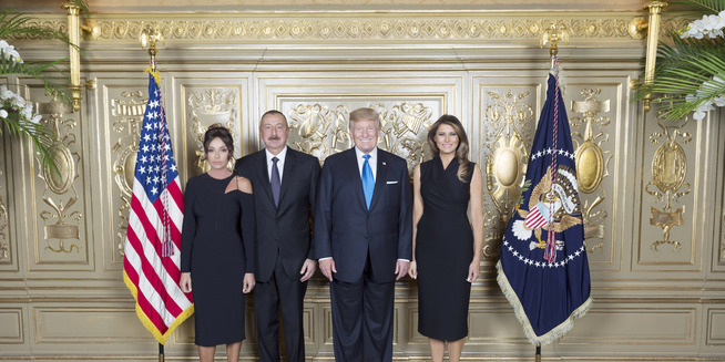 Ilham Aliyev attended reception hosted by US President Donald Trump and his wife